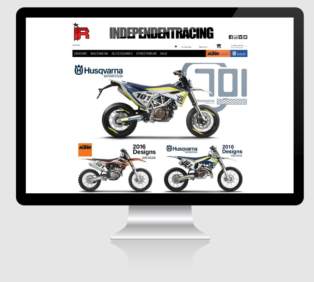 Independent Racing - Webdesign: Online Shop für Independent Racing, Mainz [Gambio GX2, HTML, CSS, PHP, JS, Smarty]